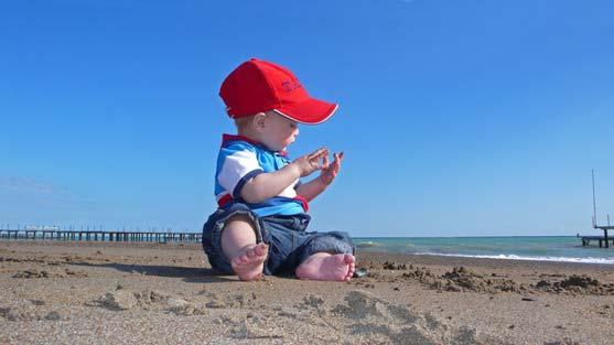 ir con los niños a la playa