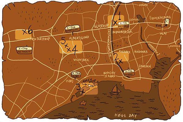 busqueda tesoro copenhague mapa