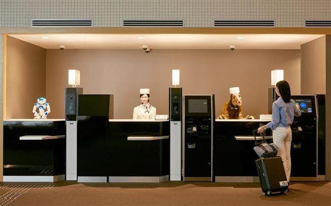 hotel donde los empleados son robots