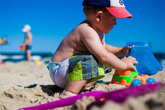 ir a la playa con niños