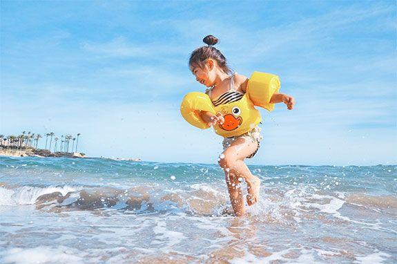 ir con niños a la playa